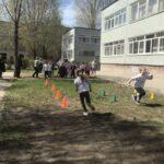 В честь Дня Победы лицеисты организовали спортивную эстафету.